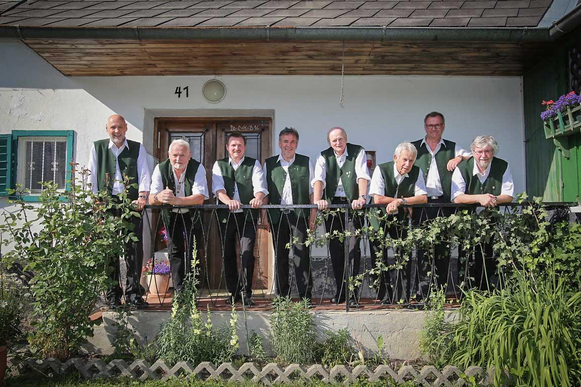 Das Doppelquartett des Steirischen Jägerchores